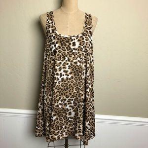 BB Dakota leopard swing dress